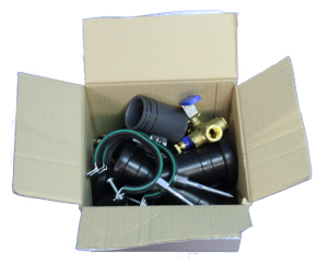 VXpipe installation kit contents - box